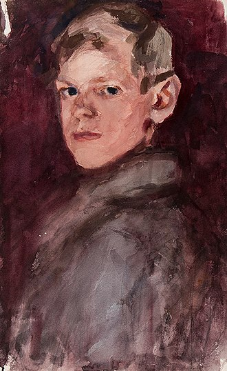 Abbott and Holder - Portrait of a boy by Harry Becker, offered for sale by Abbott and Holder in 2017.
