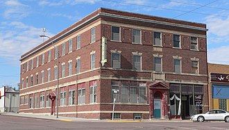 National Register of Historic Places listings in Cedar County, Nebraska - Image: Hartington Hotel from SE 1