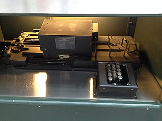Harvard Mark I - Image: Harvard Mark I card punch.agr