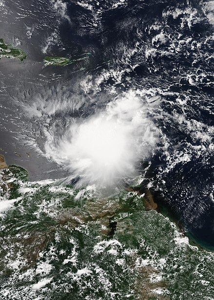 Tropical Storm Harvey in the Eastern Caribbean on August 18 Harvey 2017-08-18 Suomi NPP.jpg