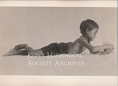Hawaiian boy at play, ca. 1905.jpg