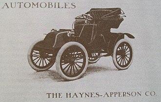 Hyatt Roller Bearing Company - A 1903 advertisement for a Haynes-Apperson car