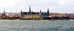 Helsingør waterfront in November 2006, with Kronborg Castle