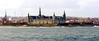 Helsingør - Helsingør waterfront in November 2006, with Kronborg Castle