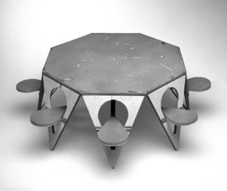 Henry P. Glass - Folding Picnic Table Model, Designed 1961 Brooklyn Museum