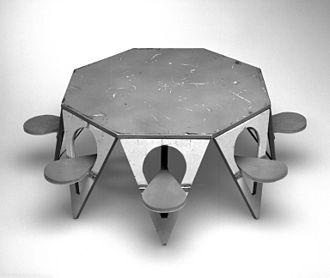Henry P. Glass - Folding Picnic Table Model, Designed 1961 Brooklyn Museum