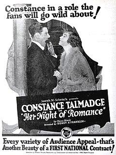 <i>Her Night of Romance</i> 1924 film by Sidney Franklin