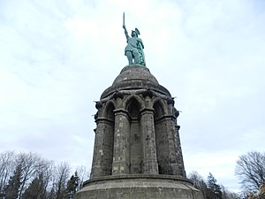 Hermannsdenkmal - Hermann monument in Detmold, North Rhine-Westphalia