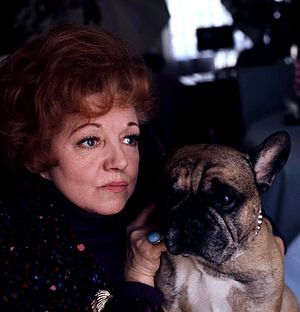 Passport to Pimlico - Hermione Baddeley, who played Edie Randall, pictured in 1978