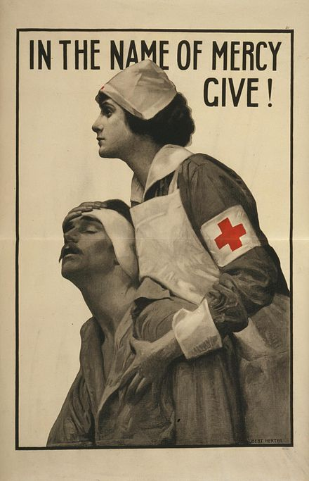 Red Cross poster from the First World War. Herter - In the name of mercy give.jpg
