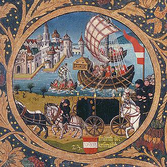 Frederick I, Duke of Austria (Babenberg) - Frederick I in the German Crusade of 1197, Babenberger Stammbaum, Klosterneuburg Monastery, 1489–1492