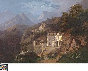Het kapucijnenklooster in Cava (Salerno)