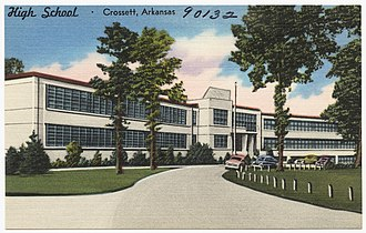 Crossett, Arkansas - Drawing of high school in Crossett