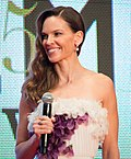 Photo of Hilary Swank at the 28th Tokyo International Film Festival in 2015.