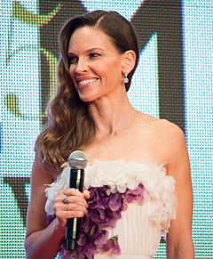 Hilary Swank won this award twice for her roles in Boys Don't Cry (1999) and Million Dollar Baby (2004). Hilary Swank at 28th Tokyo International Film Festival.jpg