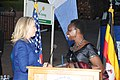 Hillary Rodham Clinton greets Christine Ondoa.jpg