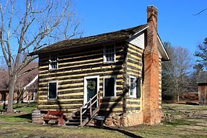 Bethabara Historic District - Log house, c. 1815-16 in Historic Bethabara.