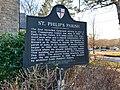 Historical Marker, St. Phillip's Episcopal Church, Brevard, NC (31728086517).jpg