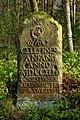 Historischer Grenzstein am Rande des Gellerser Anfangs, der sog. Georg-Rex-Stein mit römischer No. I - 29.04.2017.jpg