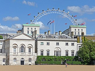Dover House - Image: Horseguards Parade with the London Eye, London SW1 geograph.org.uk 1409546