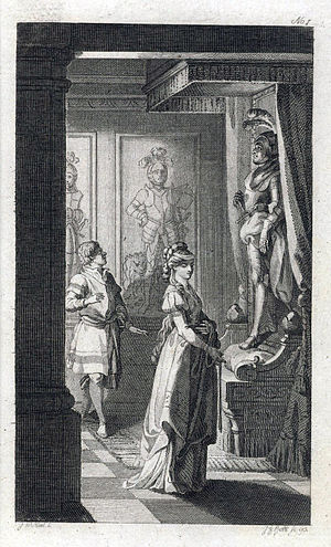 The Castle of Otranto - Illustration from a 1794 German edition