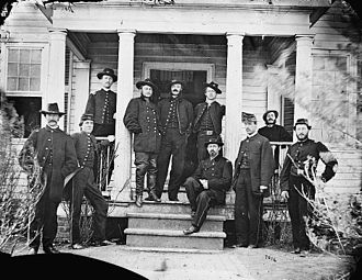 Hugh Judson Kilpatrick - Kilpatrick and his 3rd Division staff, March 1864