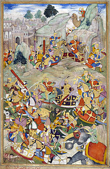 Humayun finally defeated his rebellious brother Kamran in Kabul in 1553.jpg