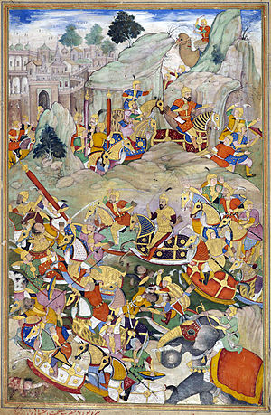 Humayun - Humayun and his Mughal Army defeats Kamran Mirza in 1553.