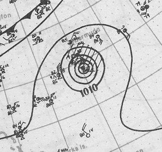 1926 Atlantic hurricane season - Image: Hurrciane Two analysis 5 Aug 1926