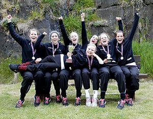 Hvassi girls winners of Joansoka 2012 rowing race.jpg