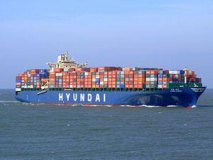 Hyundai Bangkok - IMO 9323510 - approaching Port of Rotterdam, Holland 19-Apr-2007.jpg