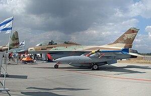116 Squadron (Israel) - 116 Squadron F-16B Netz '017' at CIAF 2004, Brno-Tuřany