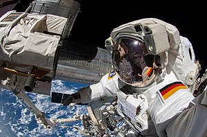 European contribution to the International Space Station - German ESA astronaut on EVA as part of Expedition 41