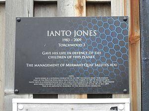 Ianto Jones - Ianto Jones plaque commemorating his life and death