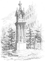 Illustrirte Zeitung (1843) 02 009 1 Bach's Denkmal an der Thomasschule zu Leipzig.PNG