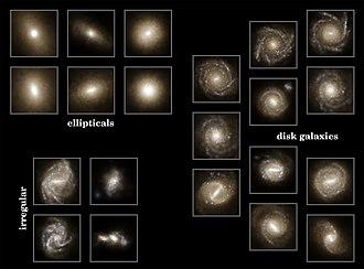 Illustris project - Image: Illustris Galaxien