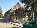 Illyés Gyula High School and a construction mixer, 2018 Dombóvár.jpg