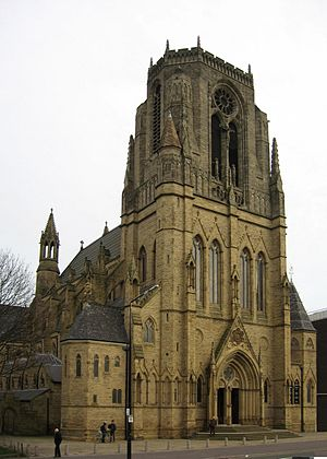 Church of the Holy Name of Jesus, Manchester - View of the entrance