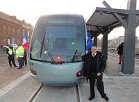 Inauguration de la branche vers Vieux-Condé de la ligne B du tramway de Valenciennes le 13 décembre 2013 (028).JPG