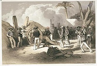 History of the Indian Navy - Sailors of the Indian Navy breaching the Delhi gates during the Indian Rebellion of 1857.