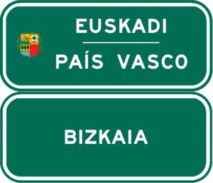 Autopista AP-68 - Image: Indicador CA País Vasco Vizcaya