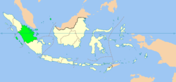 Location of Indonesia