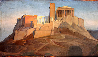 View of the Acropolis of Athens