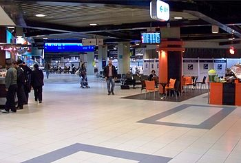 Inside Queen Alia International Airport.