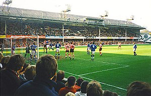 The Dell, Southampton - Inside the Dell (Southampton draw 0–0 against Leicester City, March 1997)
