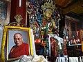 Interior of Yiga Choling Monastery with Dalai Lama Portrait - Ghum (Ghoom) - Near Darjeeling - West Bengal - India (12432391444).jpg