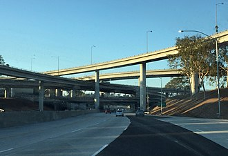Interstate 710 - I-710 at its junction with SR 60 in East Los Angeles