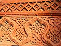 Intricate red sandstone carving panel, Qutb Minar complex.jpg