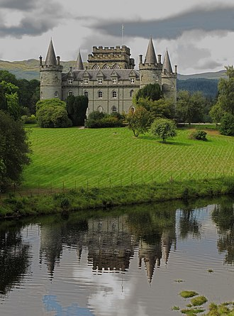 Duke of Argyll - Inveraray Castle, the principal family seat of the Dukes of Argyll