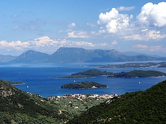 Ionian Sea - The Ionian Sea, view from the island Lefkada, Greece